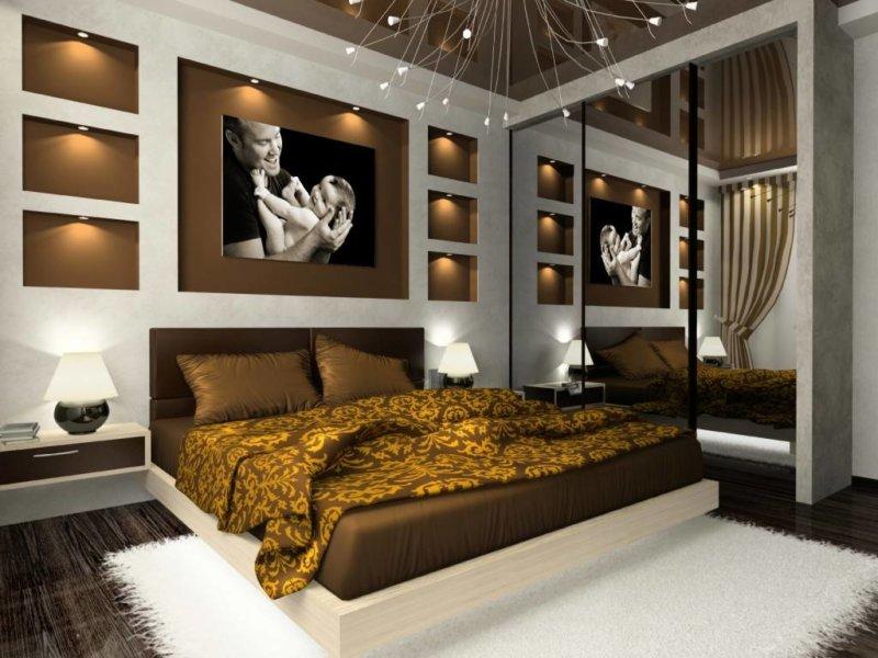 Дизайнерские идеи в спальне