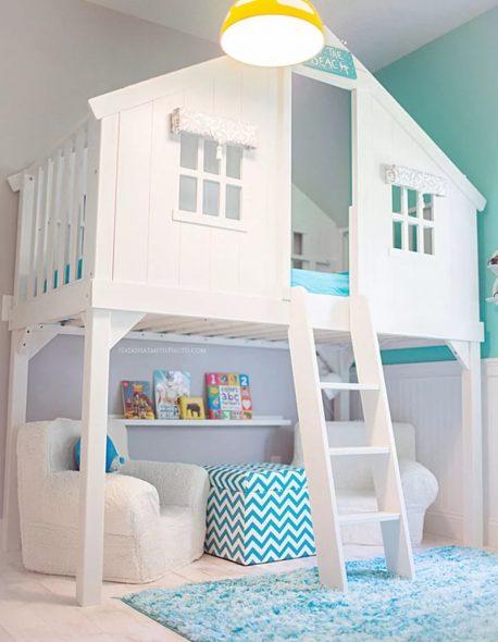 Двухэтажная мебель со спальным местом