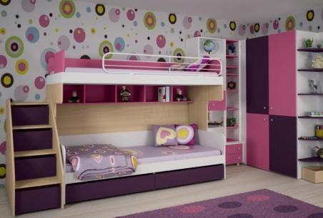 Двухэтажная современная кровать