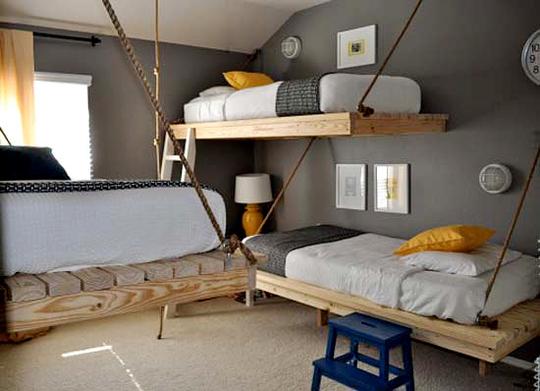 Двухъярусная кровать-качель