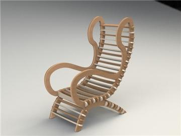 Фанерное кресло качалка