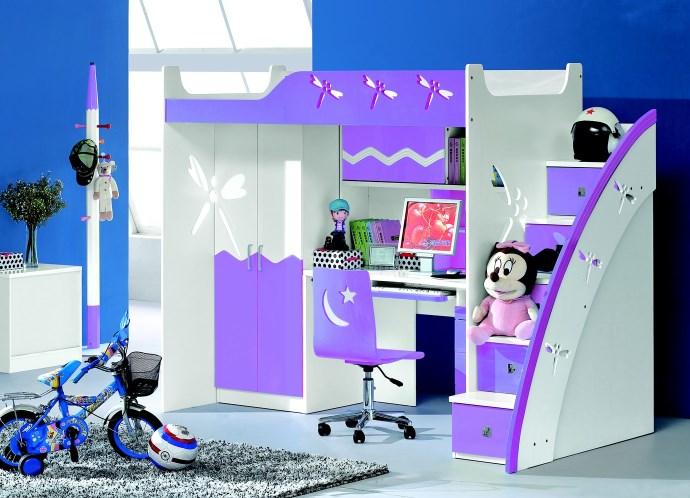 Фиолетовые предметы мебели