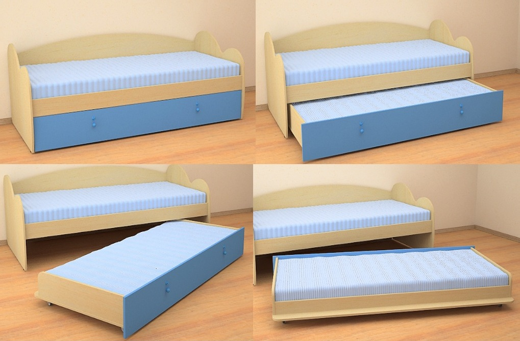 Голубые оттенки кровати-тахты