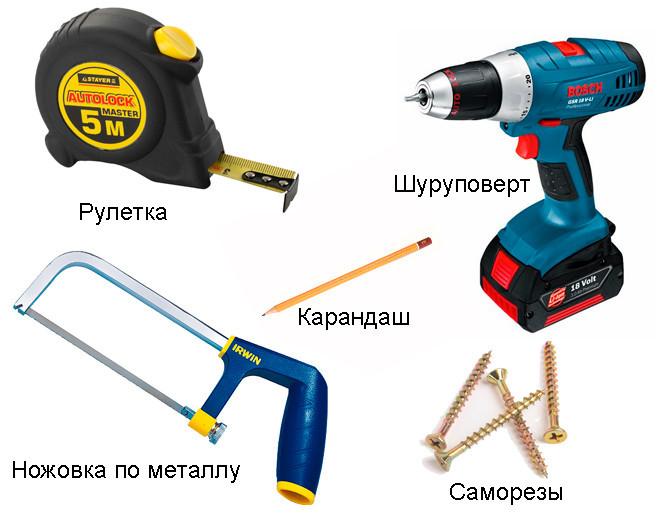 Инструменты для изготовления навесной конструкции