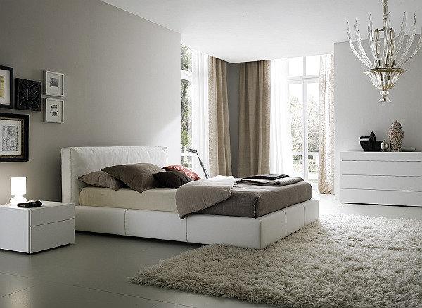 Интерьер спальни в светлом цвете
