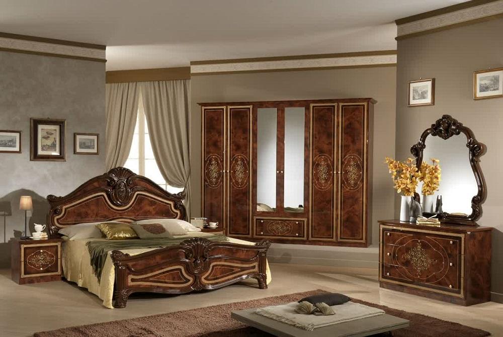 Итальянская спальная мебель из массива дерева