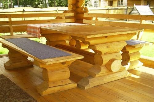 Как изготовить мебель из бревен своими руками