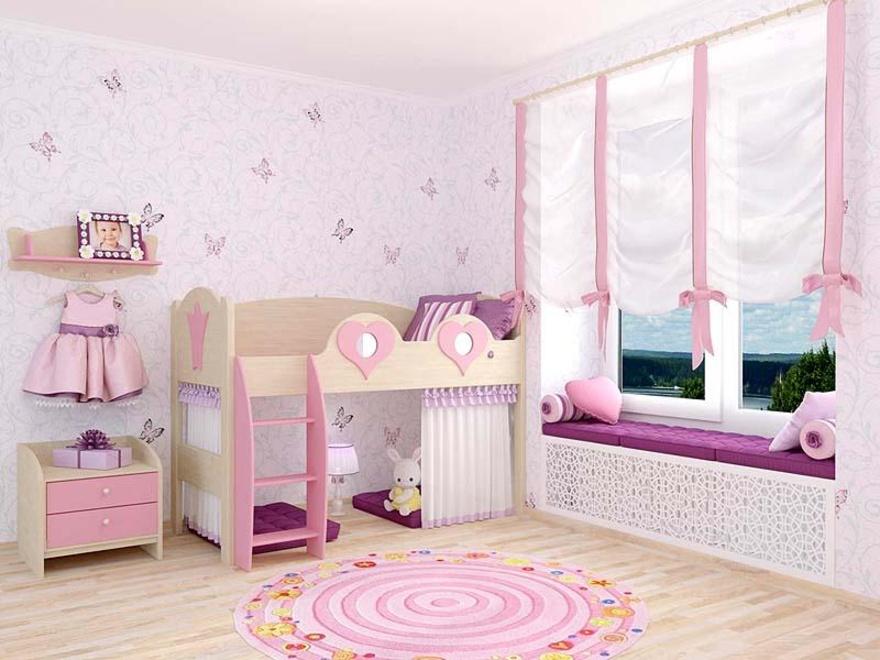 Как обустроить комнату девочки