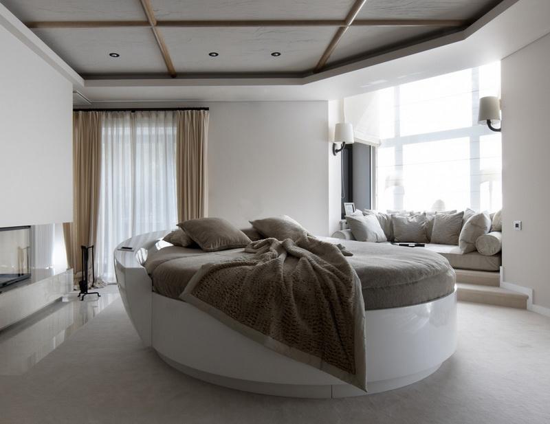 Как правильно расположить кровать круглой формы