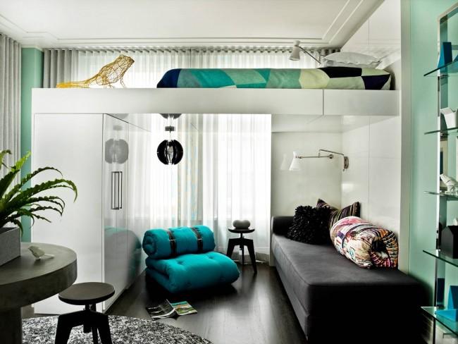 Как сделать спальню просторной с помощью мебели