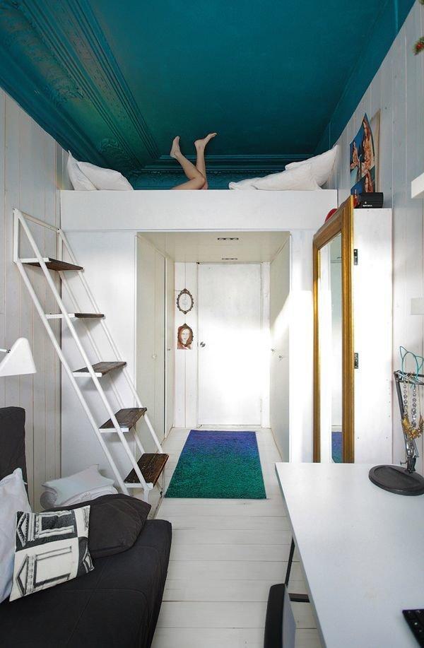 Как скрыть спальное место в комнате