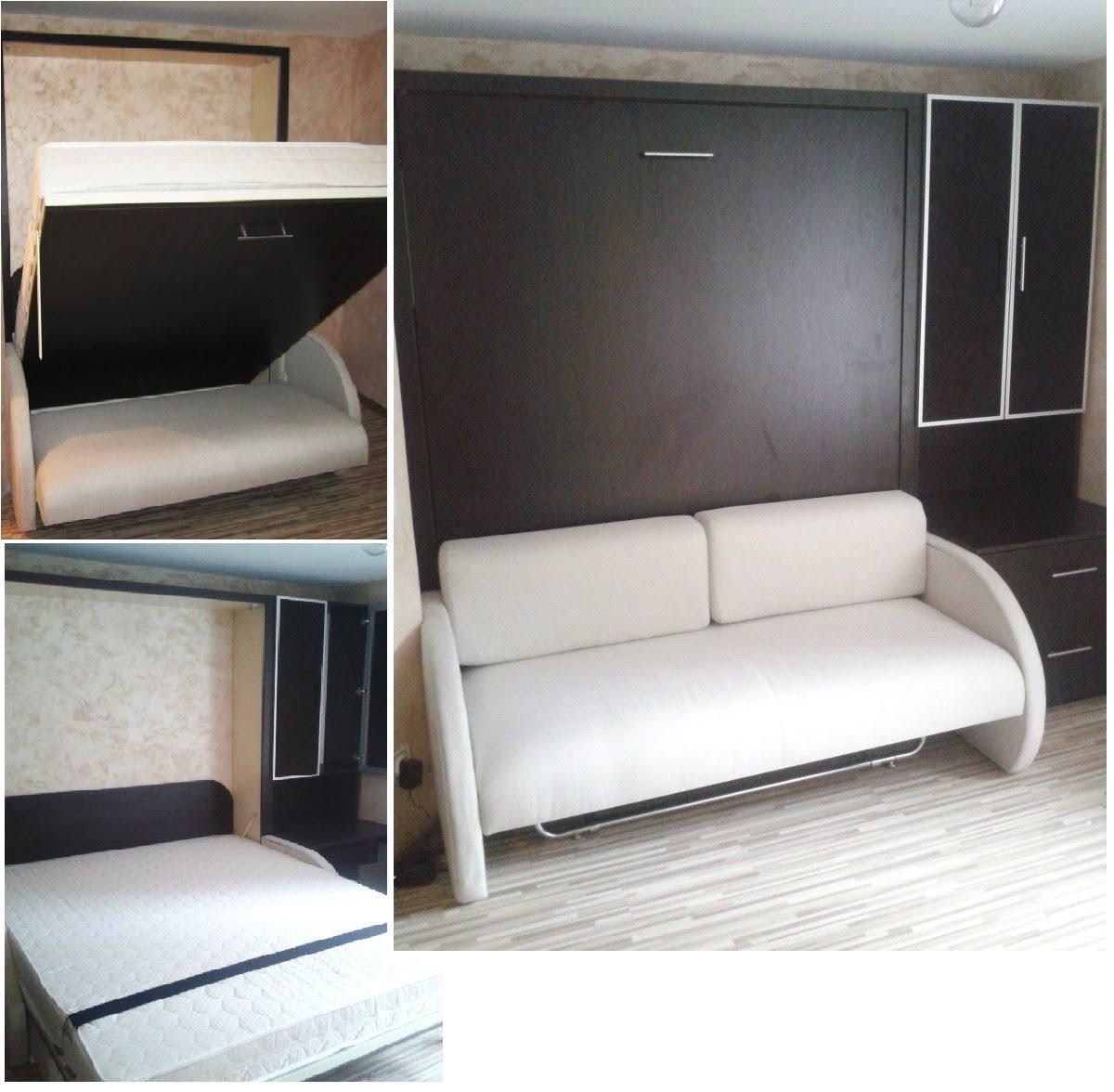кровать трансформер для малогабаритной квартиры какие модели