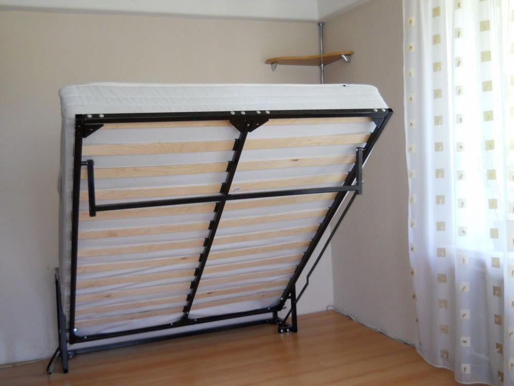 Как устроеня подъемная двуспальная кровать