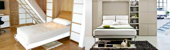 Как встроить кровать в стену