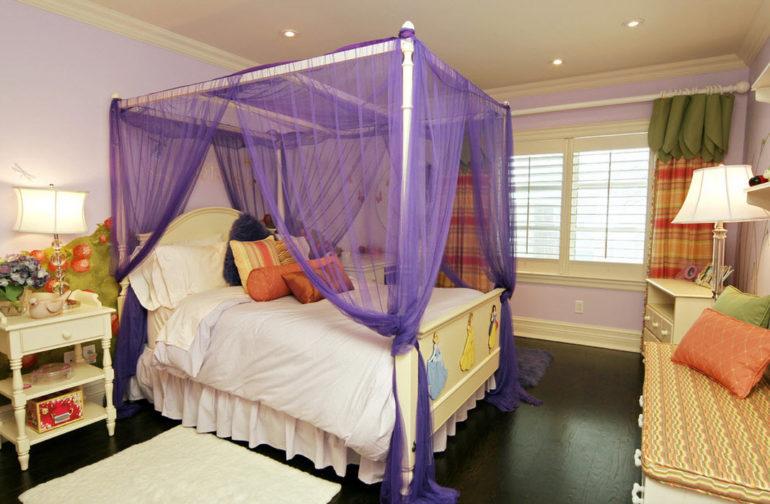 Каркасная кровать для королевского балдахина