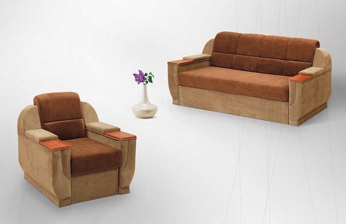 Классический дизайн коричневой мебели