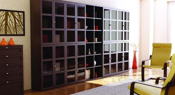 Книжные шкафы-библиотеки