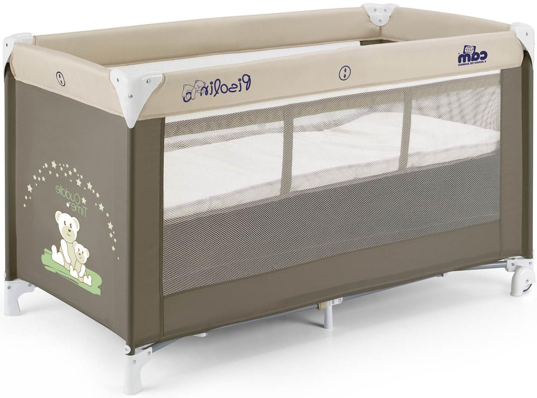Коричневые оттенки манежа для комнаты ребенка