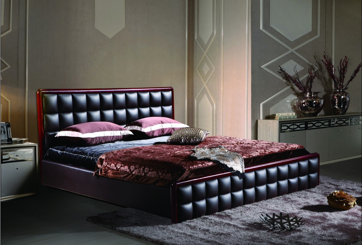 Кожаная кровать станет украшением для любой спальной комнаты