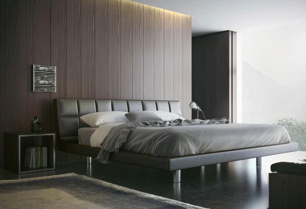 Кожаная кровать в спальню