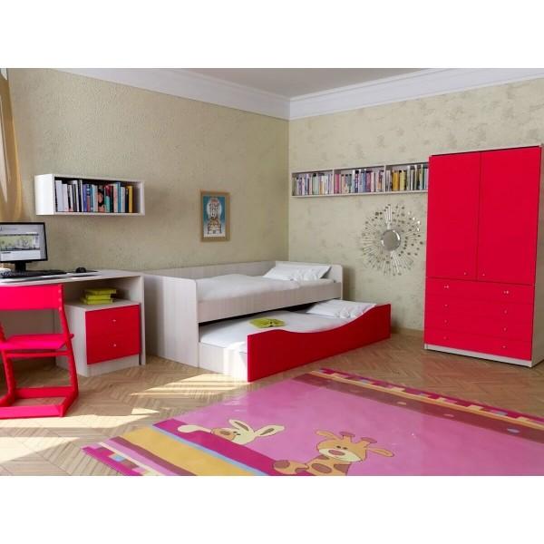 Красные оттенки в спальне ребенка