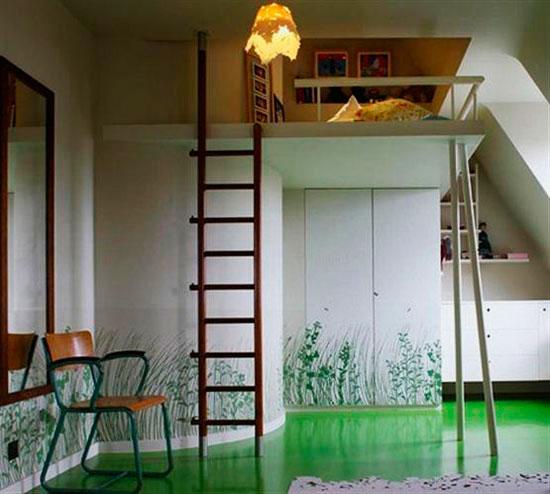 Креативные нотки интерьера спальни