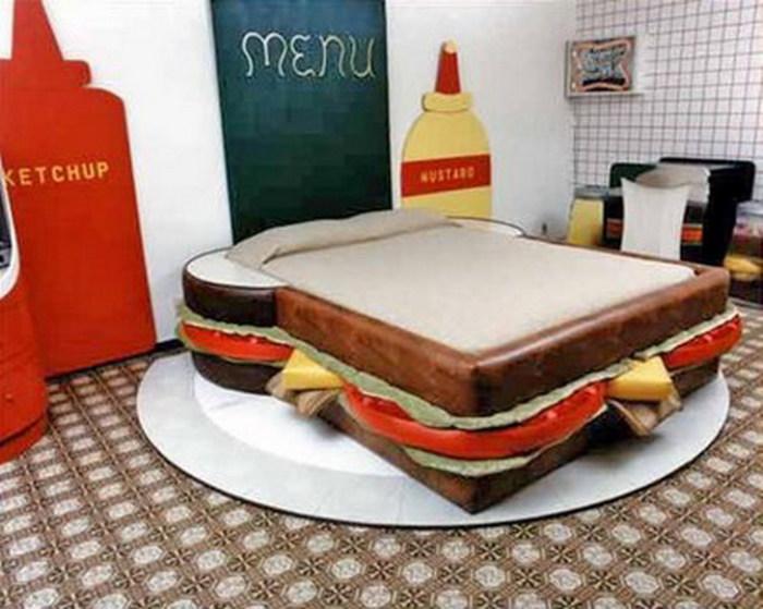 Креативный внешний вид спального ложе
