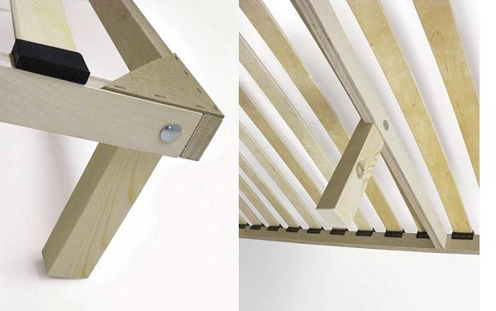 Крепление ножек в деревянный каркас мебели