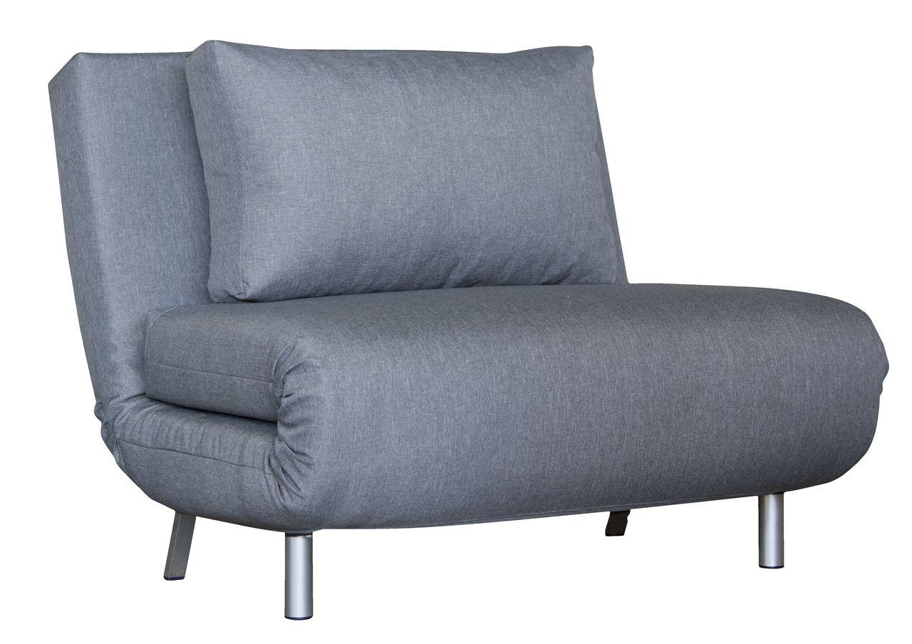 Кресло-кровать серого цвета