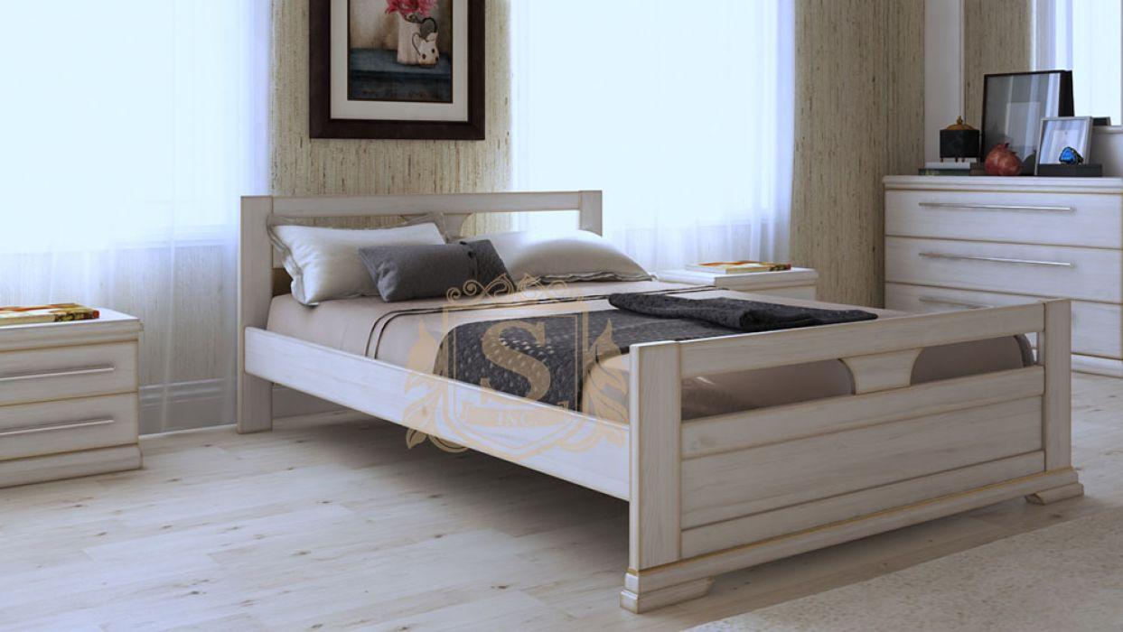 Кровать белая Модерн