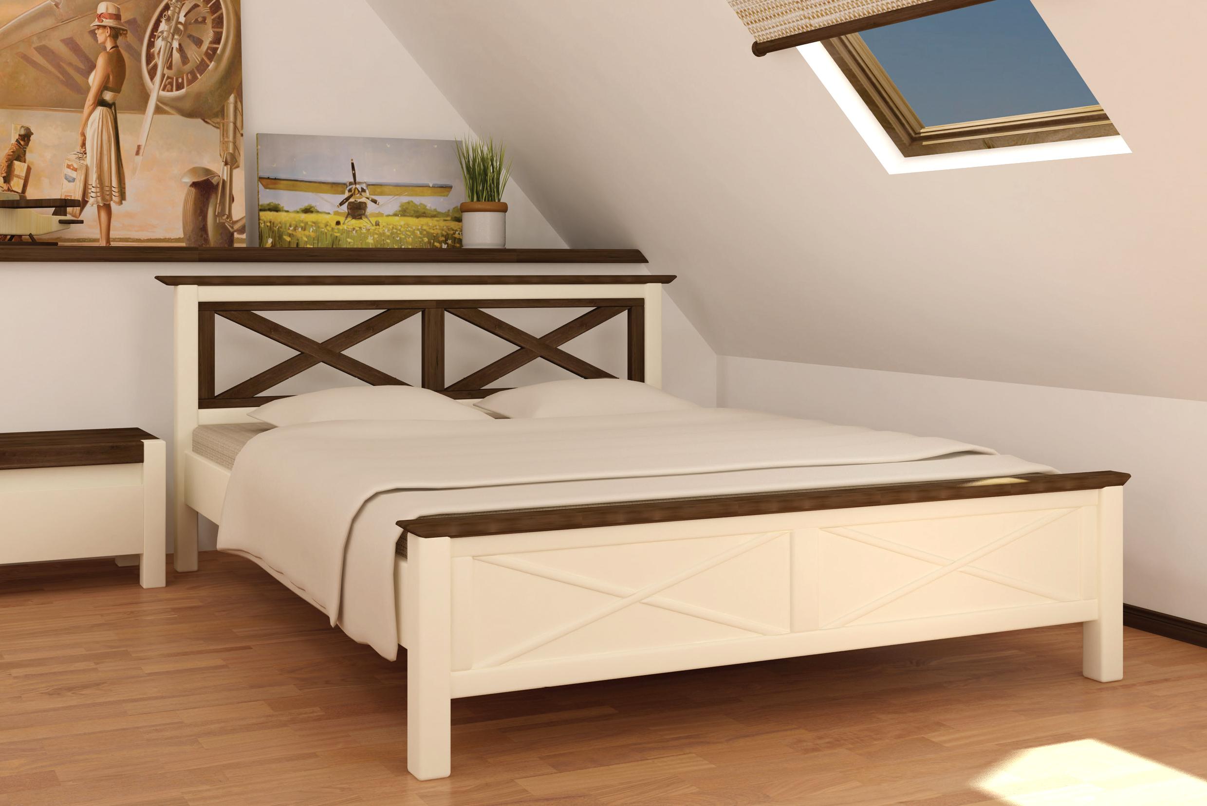 Кровать белого цвета