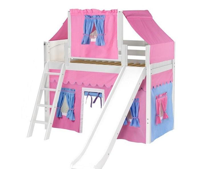 Кровать-чердак для девочки с игровой зоной