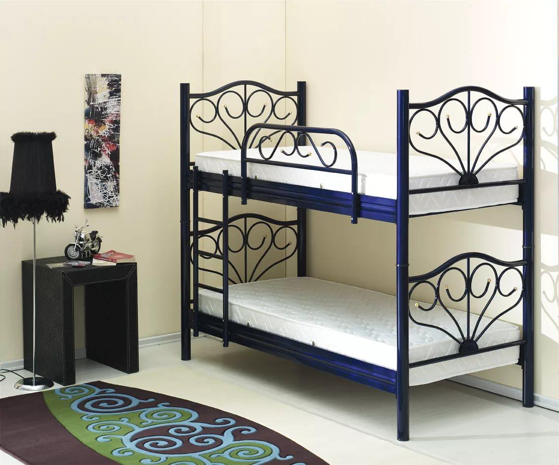 Кровать для двоих детей из металла