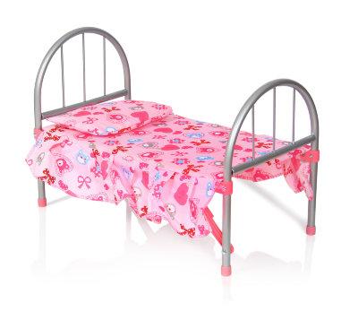 Кровать для куклы металлическая