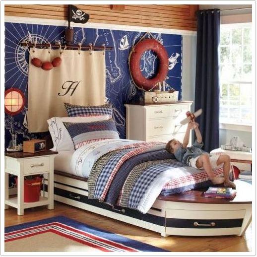 Кровать-корабль для мальчиков любого возраста