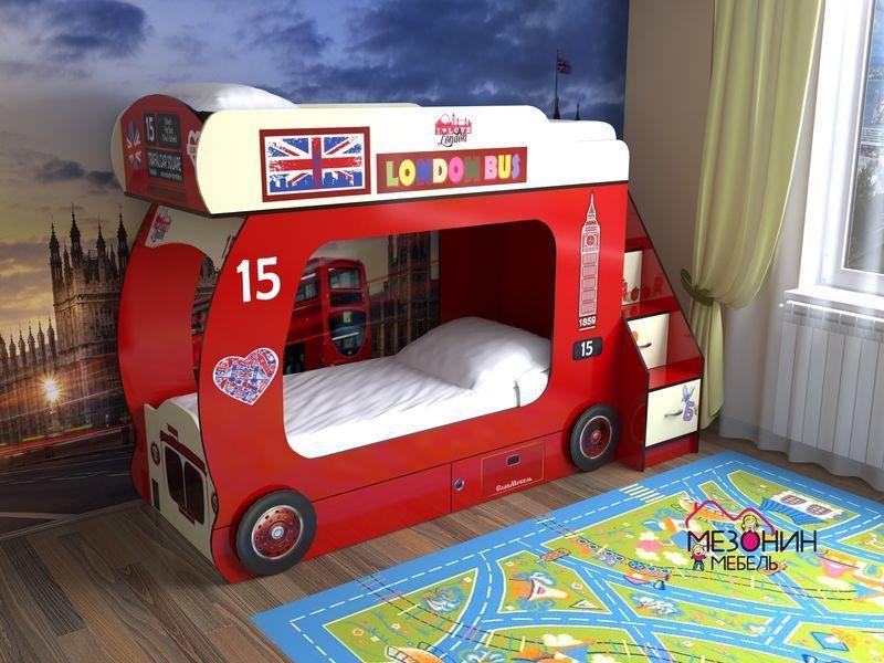 Кровать красная