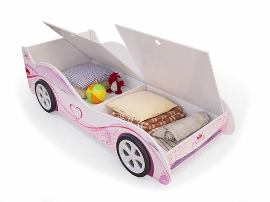 Кровать-машина для комнаты девочки