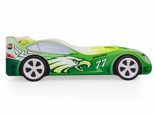 Кровать машина гоночная зеленая пятая точка