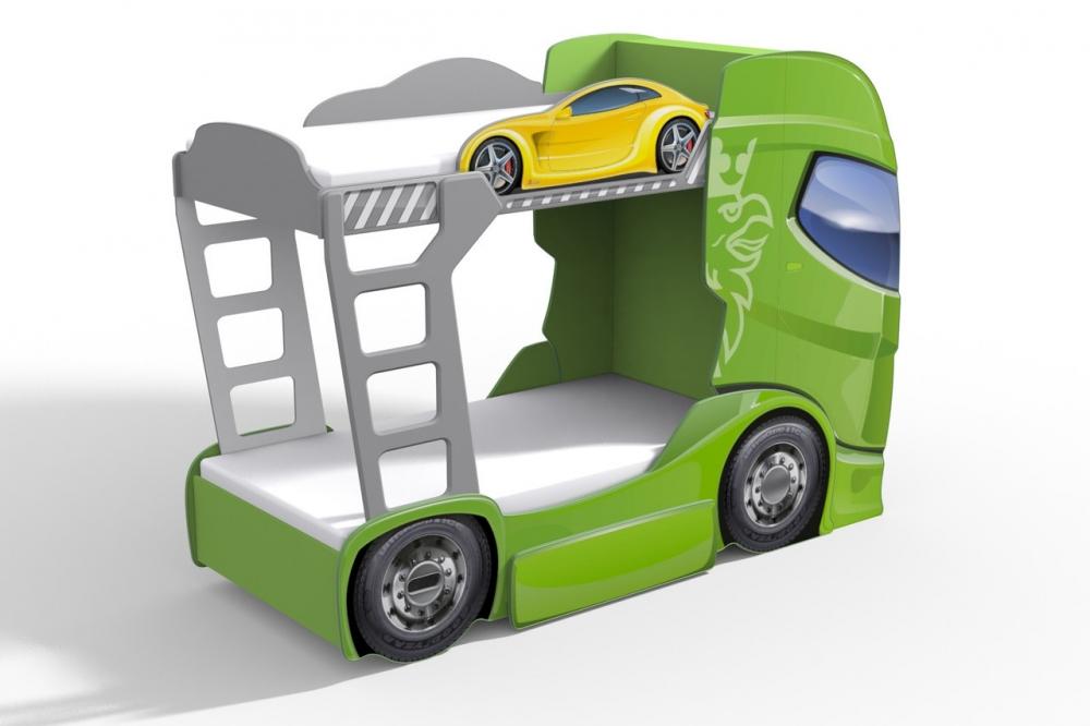 Кровать-машина с двумя ярусами
