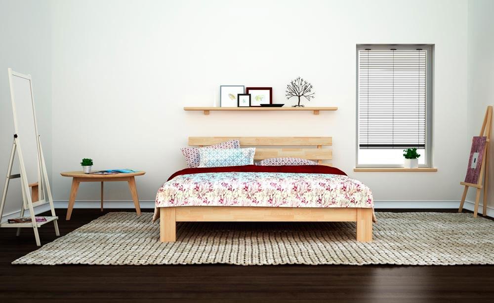 Кровать на основе натурального массива