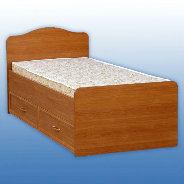 Кровать односпальная с ящиками из дерева