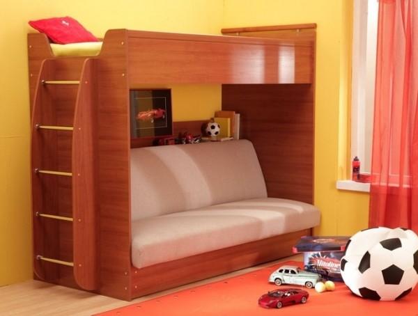Кровать с нераскладным диваном