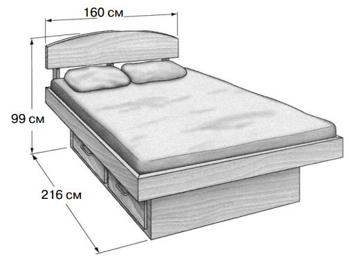 Кровать с цоколем
