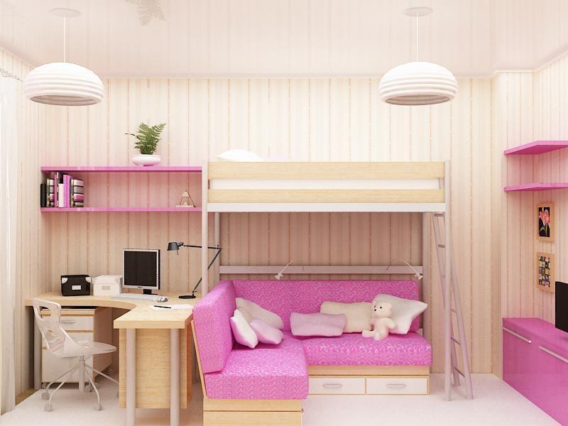 Кровать с угловым диваном
