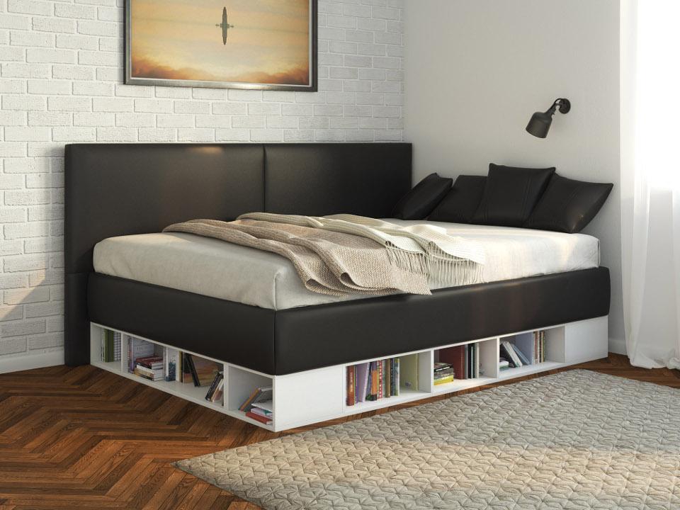 Кровать серого цвета
