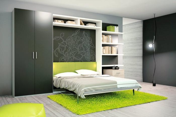 Кровать-шкаф с практичным столом для небольшой квартиры