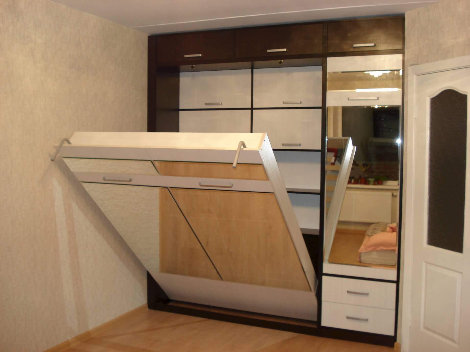 Кровать шкаф встраиваемый в стену