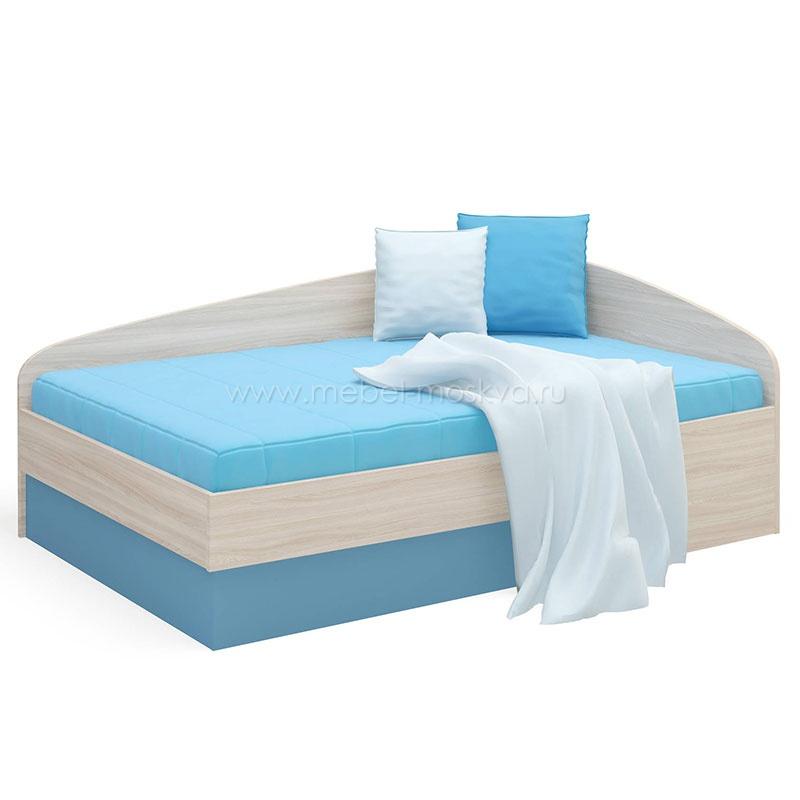 Кровать-тахта голубого цвета