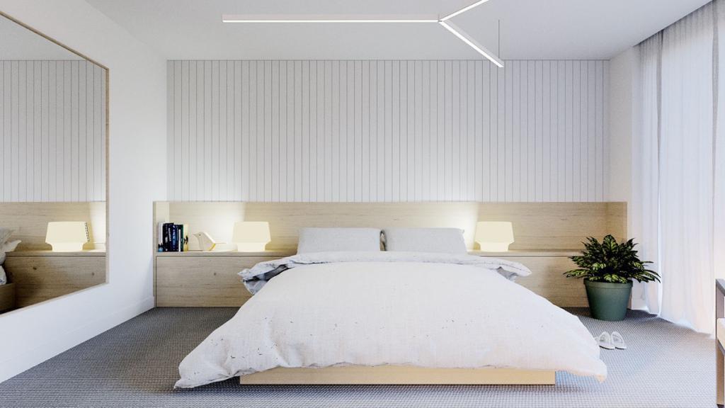 Кровать в минималистичном стиле