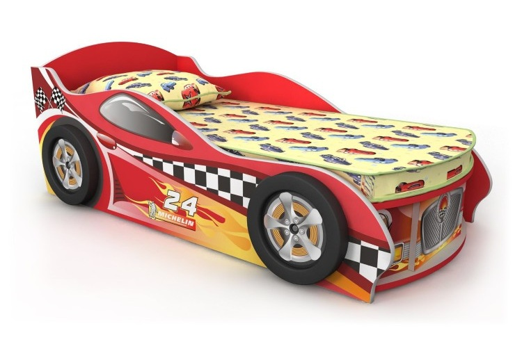 Кровать в виде современной машины